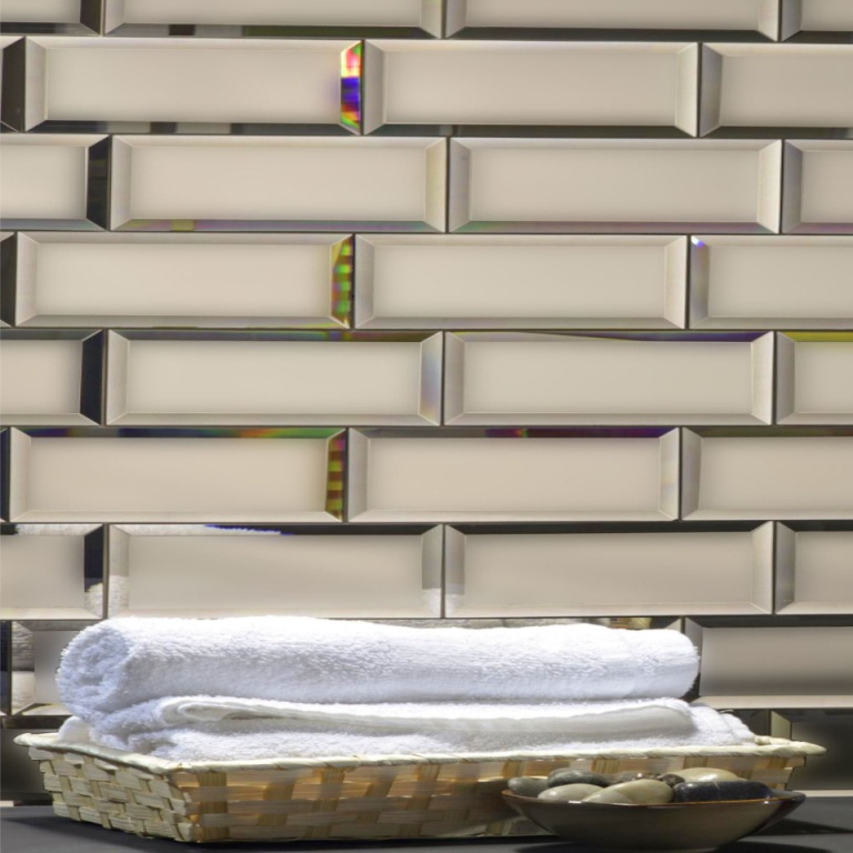Reflections Gold 3X12 Matte Glass Tile