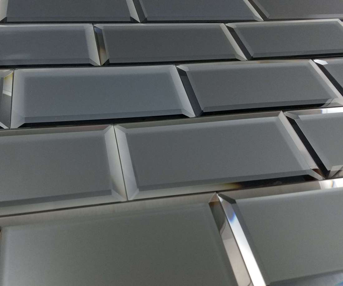 Reflections Graphite 3X6 Matte Glass Tile