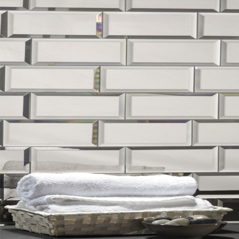 Reflections Silver 3X12 Polished Glass Tile