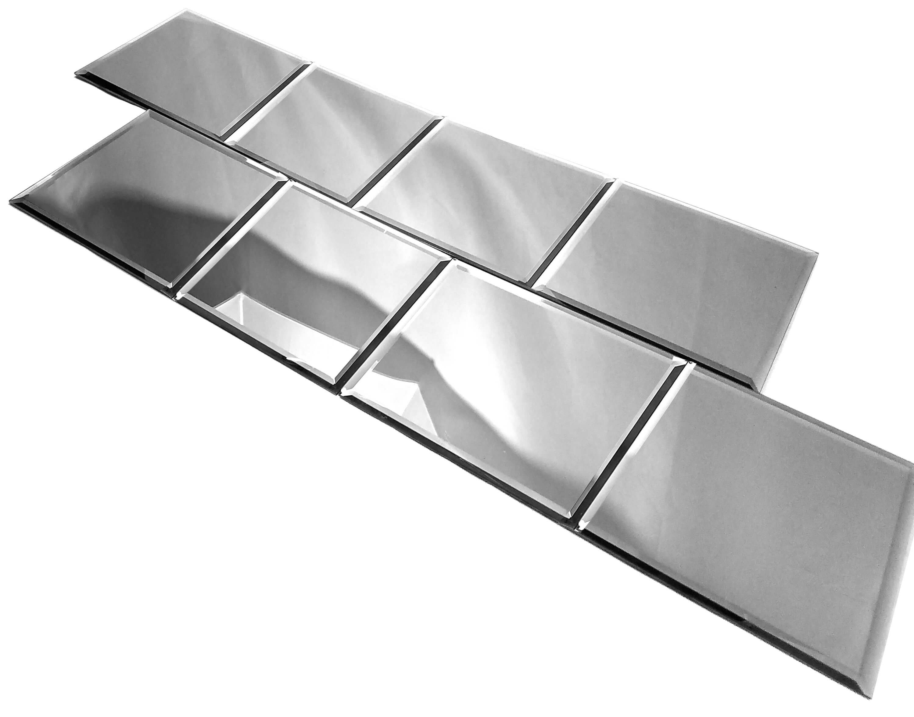 Reflections Silver 8X8 Polished Glass Tile