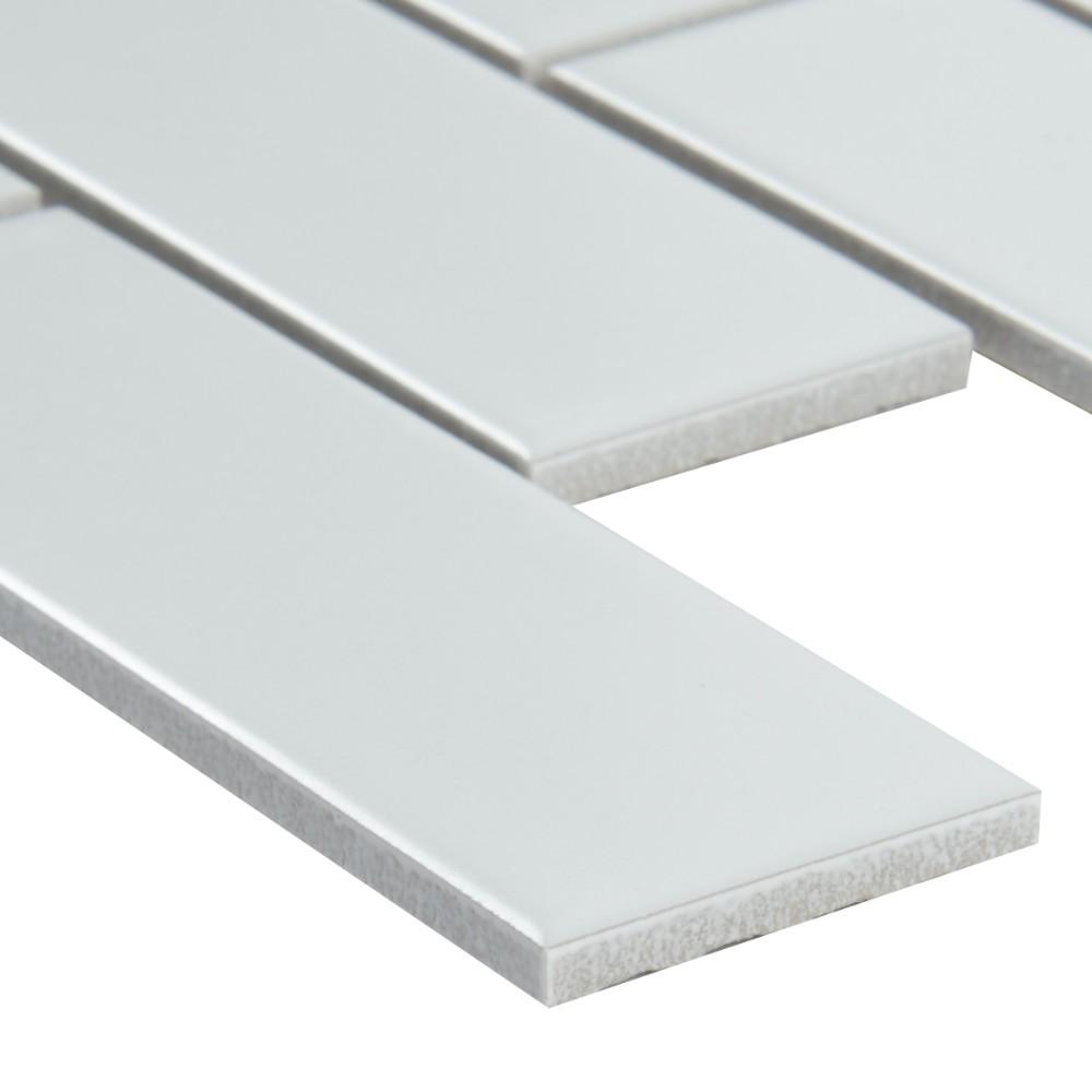 Retro Brick Bianco 2x6 Matte Subway Porcelain Tile