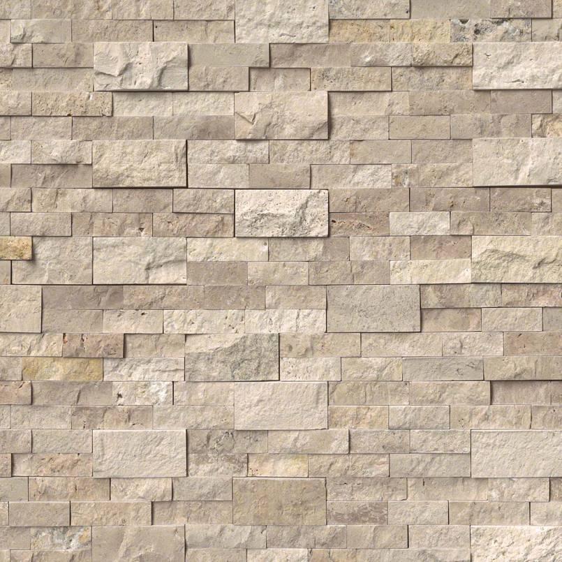 Roman Beige 6X18x6 Split Face Corner Ledger Panel