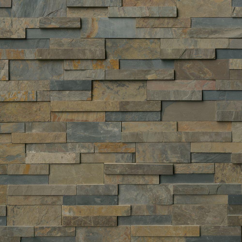 Rustic Gold 6x12x6 Split Face Corner Ledger Panel
