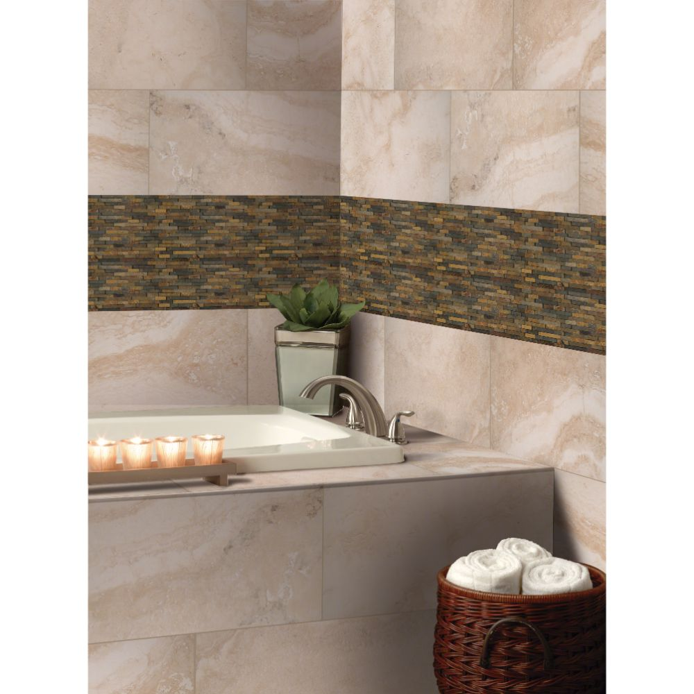 Rustique 3D Interlocking Pattern Mosaic