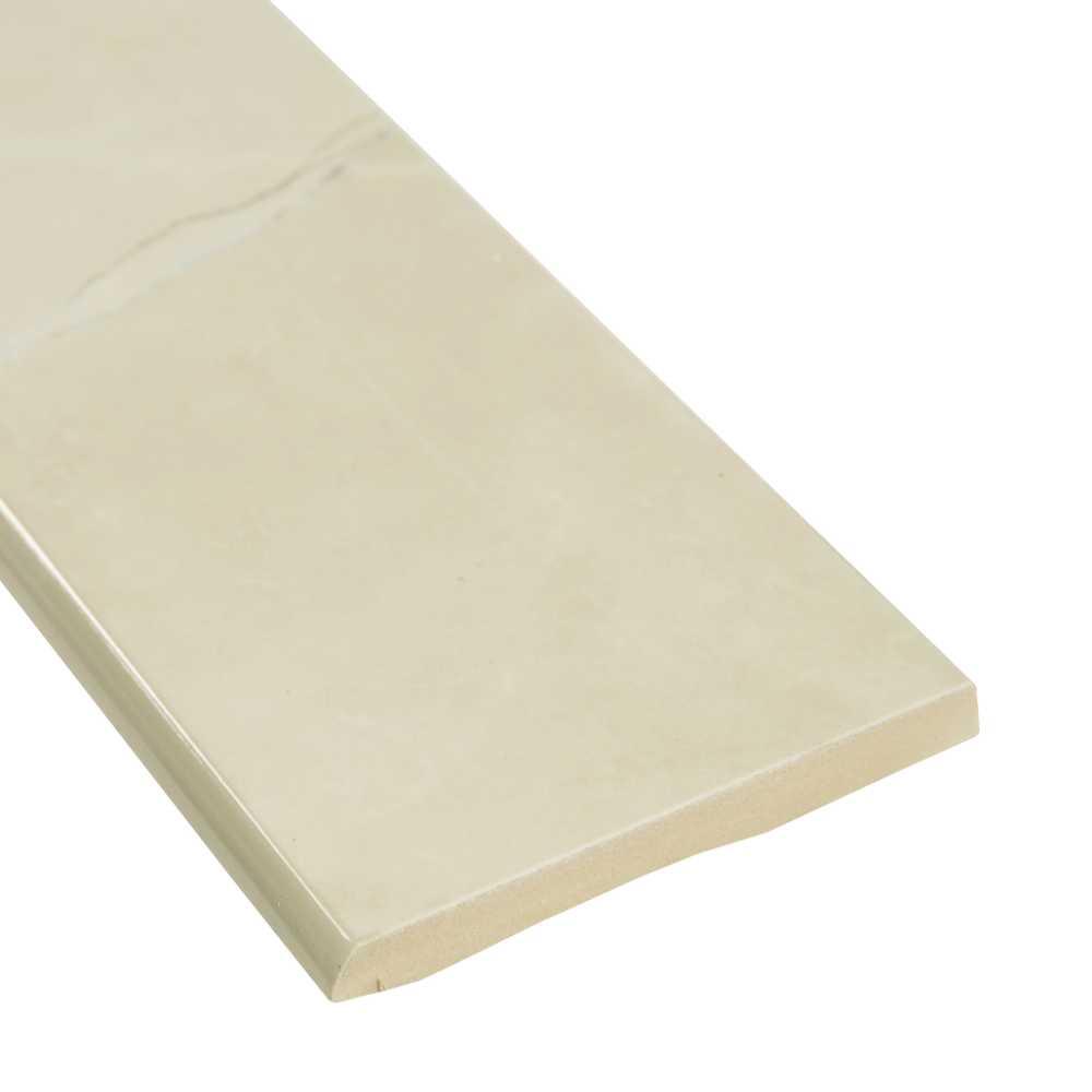 Sande Cream 3X18 Matte Bullnose Porcelain Tile