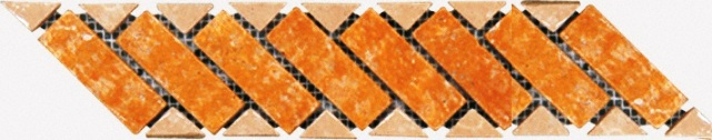 Tuscany Gold/Classic Border 3.03X12 Tumbled