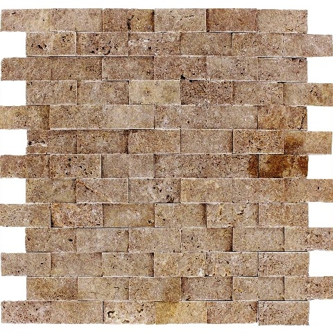 Noce 1x2 Brick Split face Mosaic