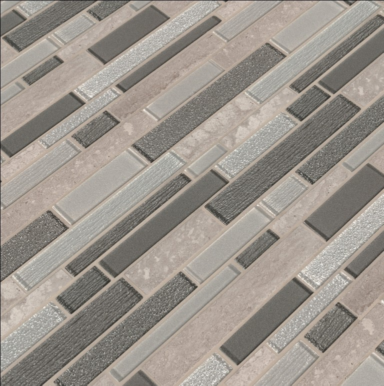 Snowmass Interlocking 8mm Glass Wall Tile