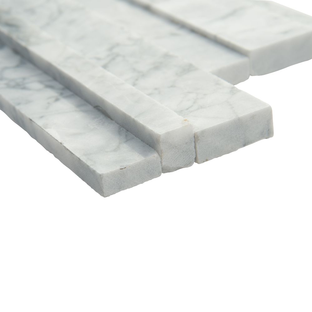 Statuarietto Capri 6x12x6 3D Honed Corner Ledger Panel