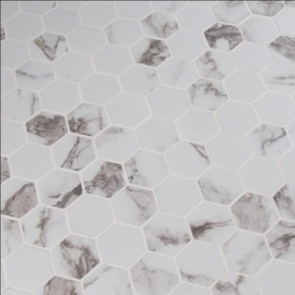 Statuario 2X2 Hexagon Matte Mosaic