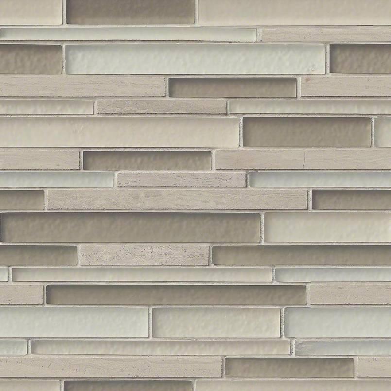 Truffle Stone Interlocking 8mm Pattern Mosaic