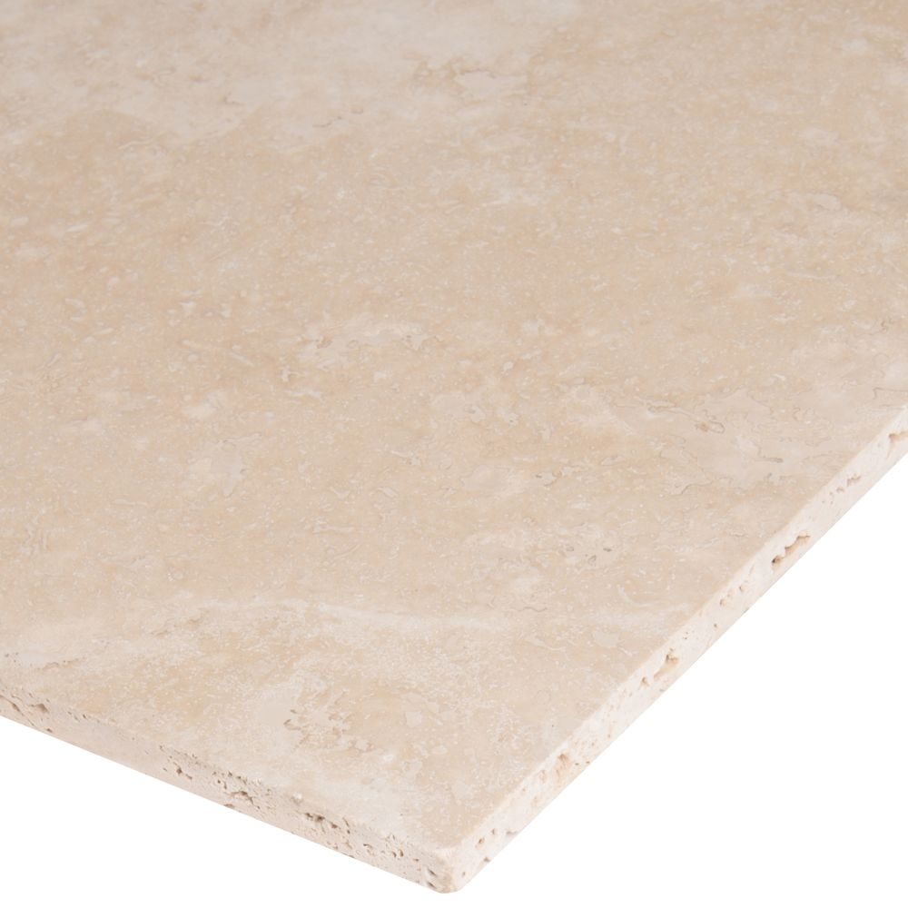 Tuscany Beige 12X12 Honed / Filled Travertine Tile