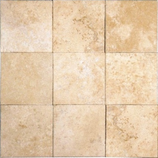 Tuscany Ivory Travertine 4x4 Honed and Beveled Tile