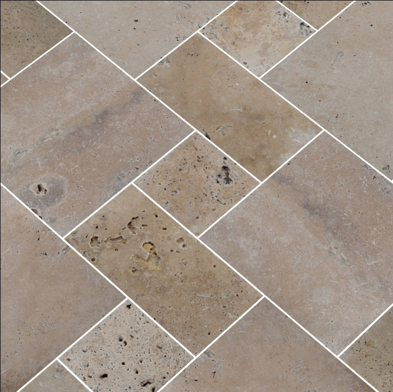 Tuscany Walnut 8X8 Honed Unfilled Tumbled Paver