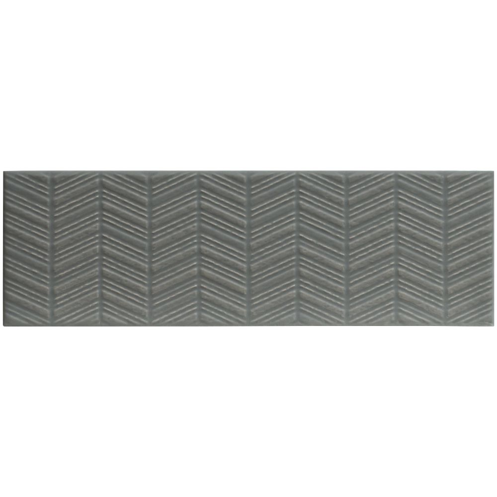 Urbano Graphite 3D Mix 4x12 Glossy Ceramic Subway Tile