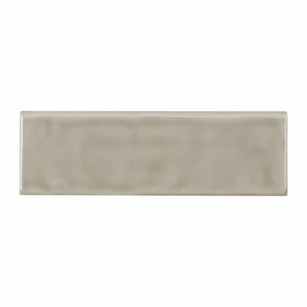 Urbano Warm Concrete 4X12 Glossy Ceramic Bullnose Tile