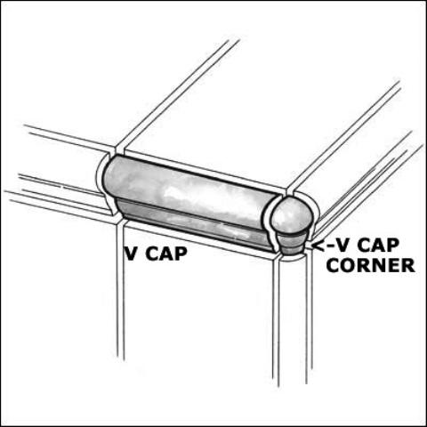 Travertino Beige VCap Corner 1X2.5 Matte