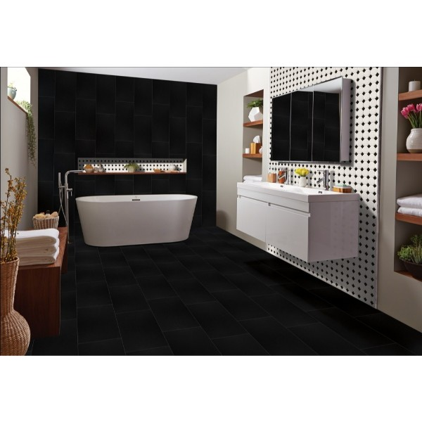 Domino White And Black Octagon Matte Mosaic