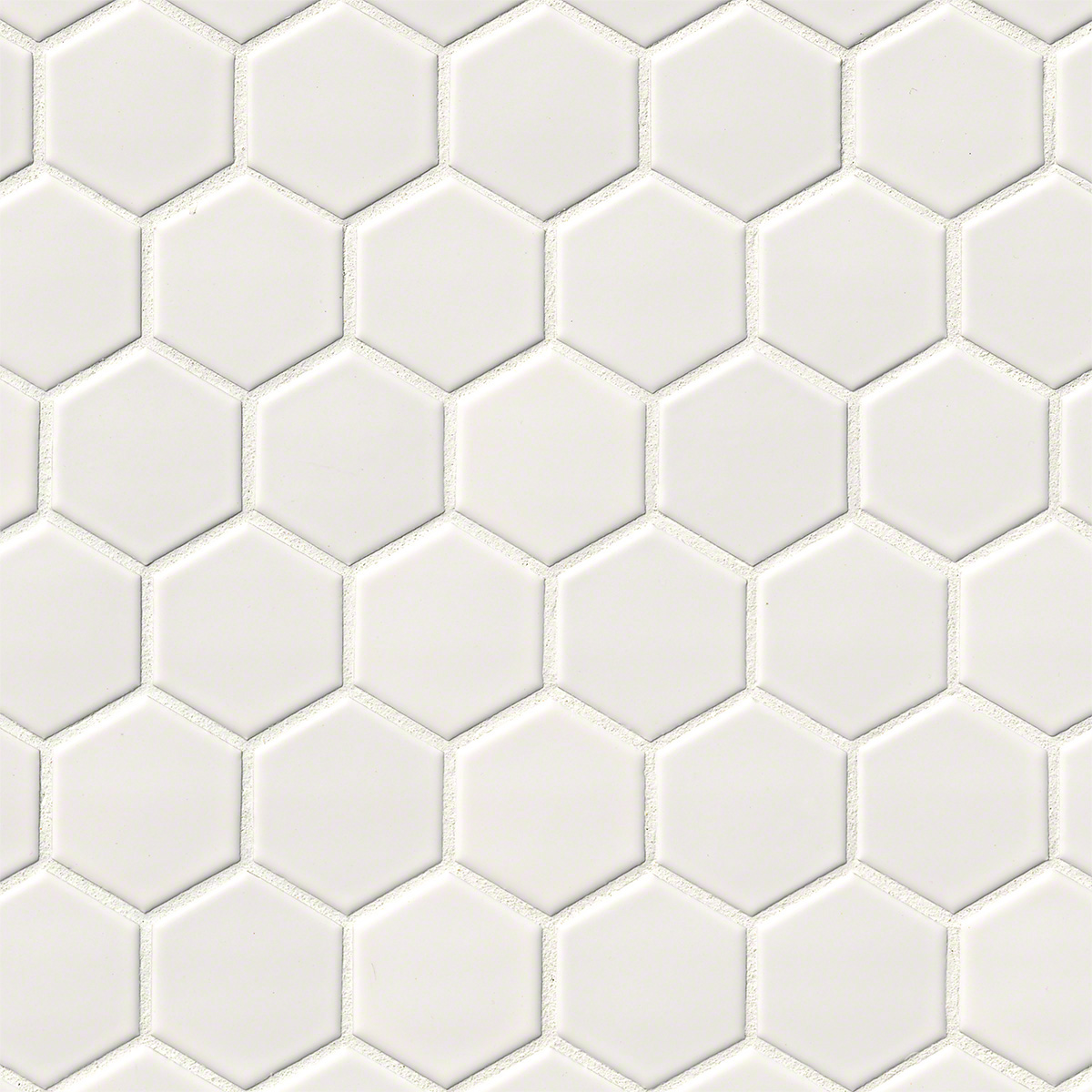 Domino White Glossy 2X2 Hexagon Mosaic