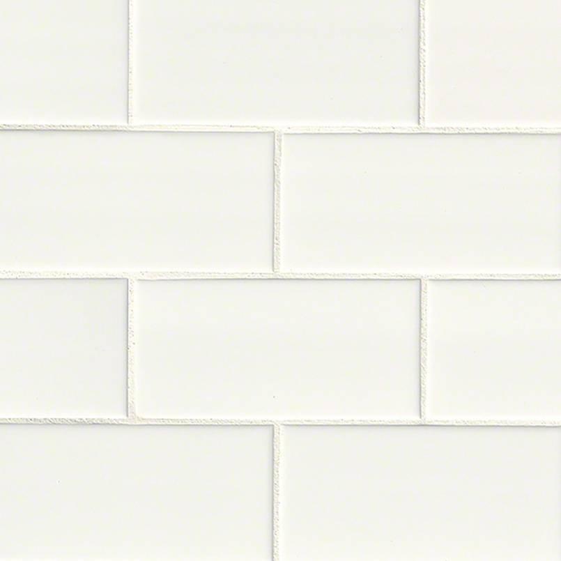 White Hudson Glossy 3X6 Subway Tile