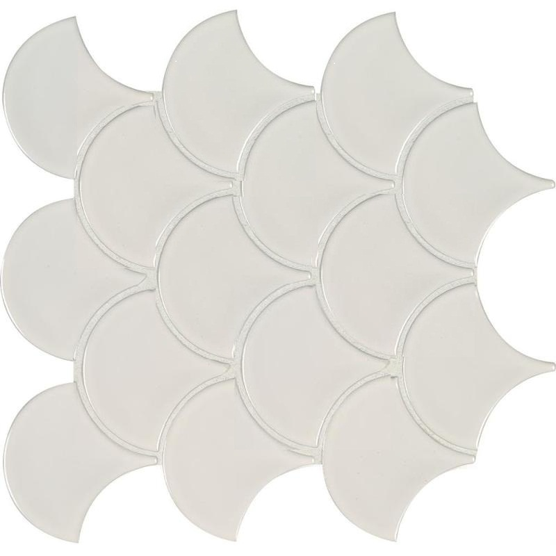 White Hudson Fish Scale Mosaic