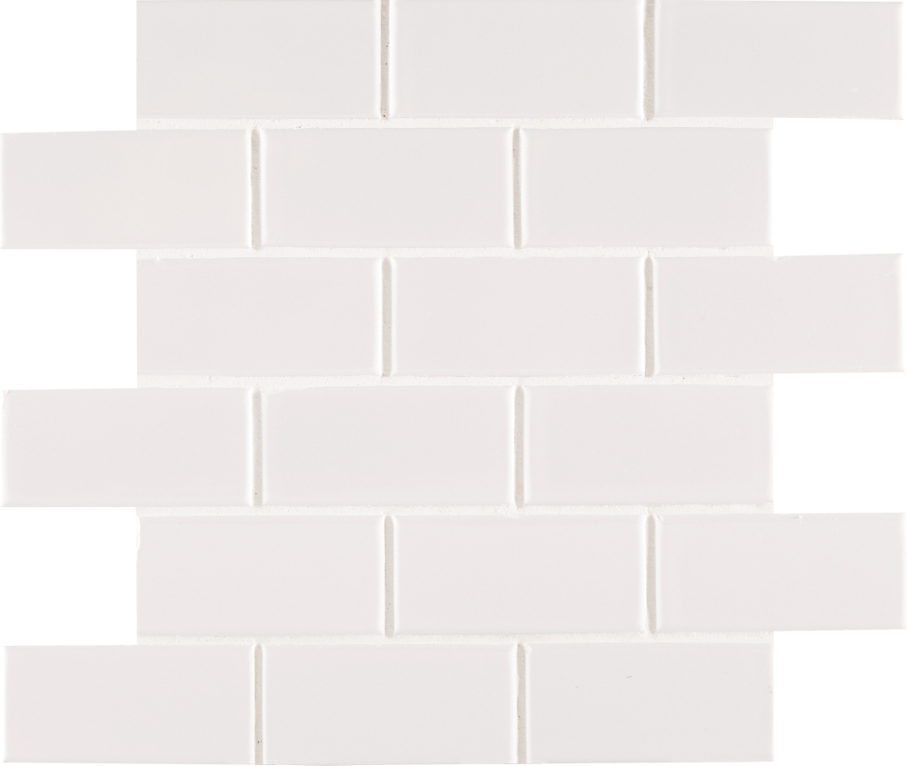 White Hudson 2X4 Staggered Subway Tile