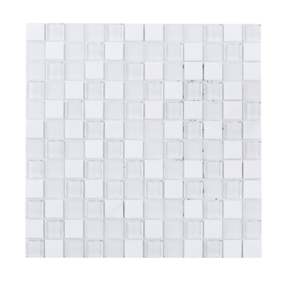 White Staccato 1X1 Blend Mosaic