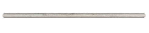 Wooden White 1x12 Honed Pencil Molding