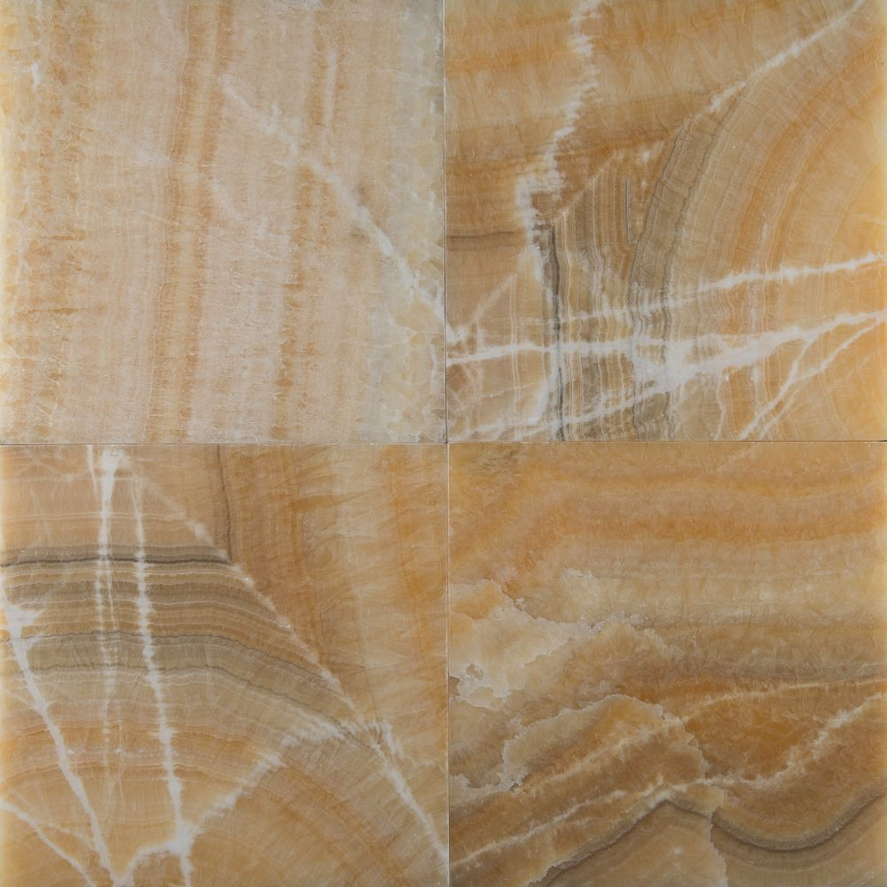 Yellow Onyx 12X12 Polished Floor Tile