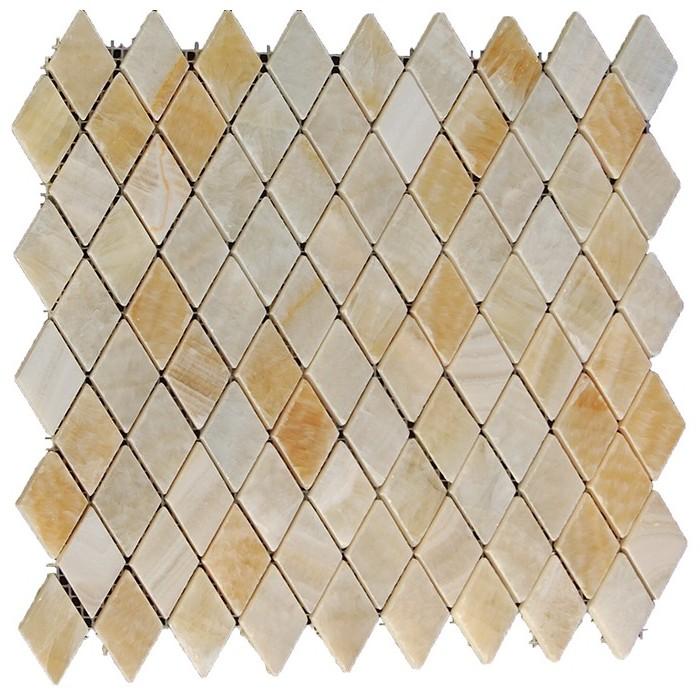Yellow Onyx Rhomboid Interlocking 12x12 Polished